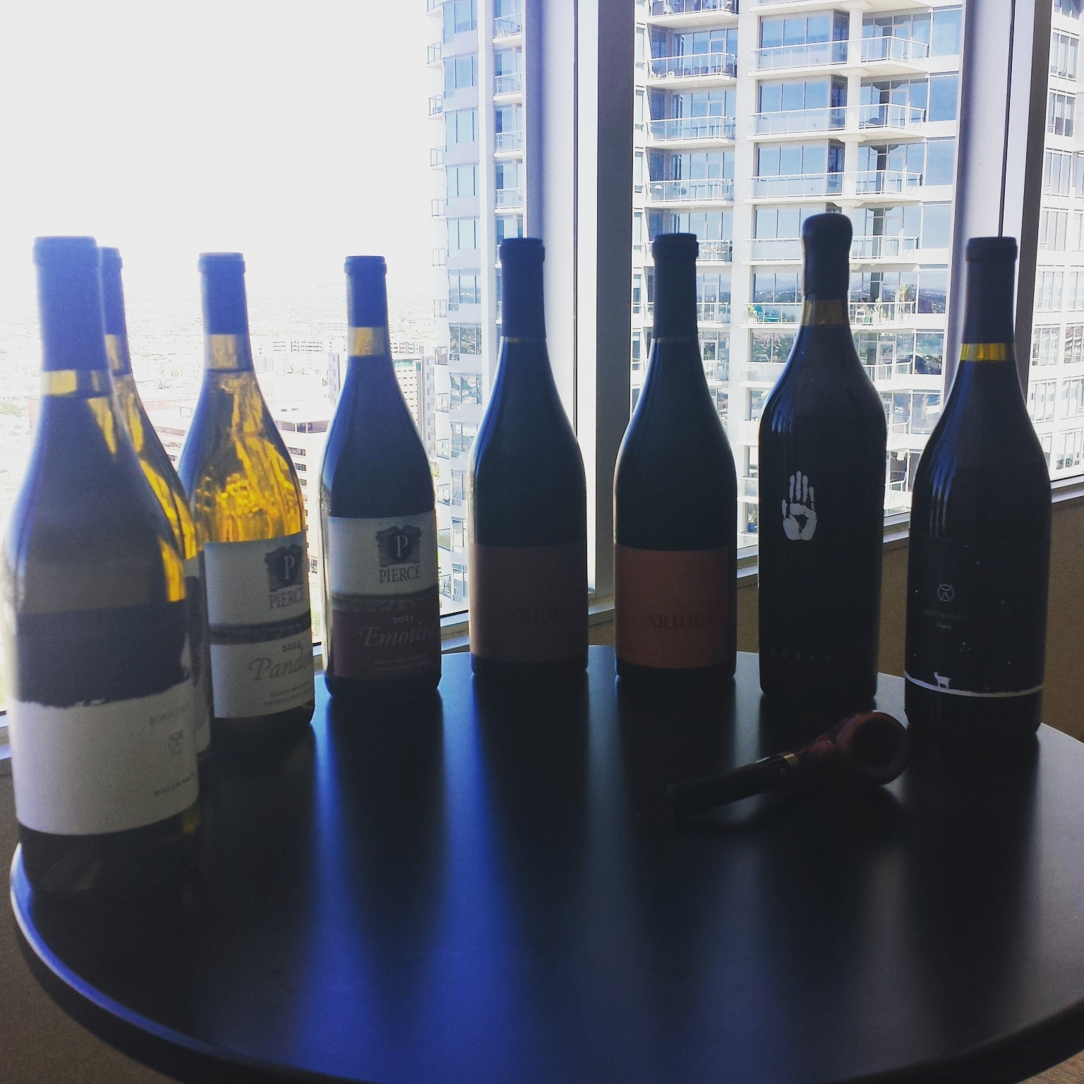 A selection of some of the wines explored in this class.